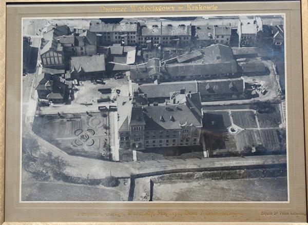 Dworzec Wodociągowy. Zdjęcie czarno białe archiwalne.